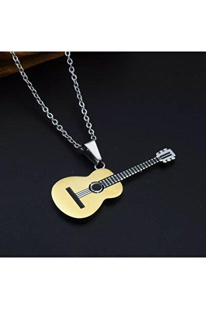 Köstebek Paslanmaz Çelik Akustik Gitar Kolye