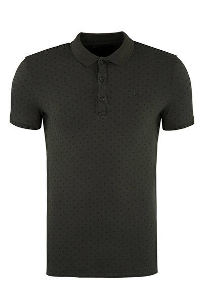 Five Pocket Erkek Haki T-Shirt - 1099