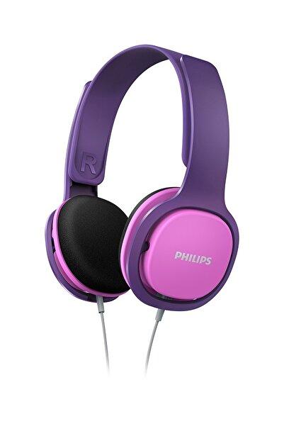 Philips SHK2000PK Kids Kulak üstü Kulaklık - Pembe/Mor
