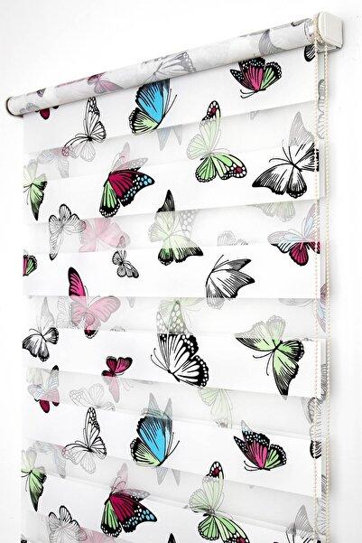 Tengo Zebra Perde 80X200 Kelebek Desenli Çocuk ve Genç Odası Stor