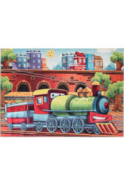 GizHome Kids Kaymaz Taban Yıkanabilen Halı 140x190 Tren