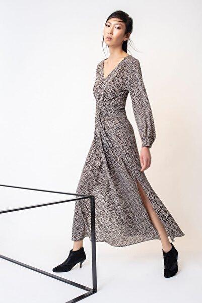 RİVUS Kadın Leopar Elbise 1499