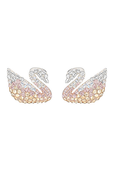Swarovski Kadın Küpe İconic Swan:Pe Prl Large Lmul/Rhs 5215037
