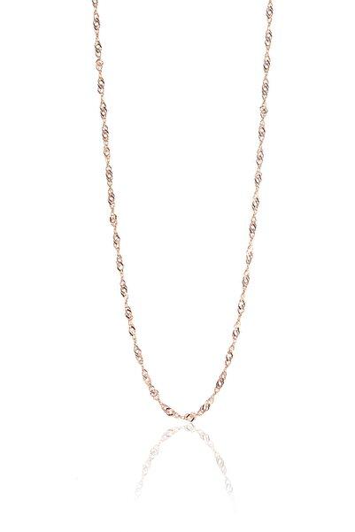 Söğütlü Silver Kadın Gümüş Rose Singapur Modeli 45 Cm Zincir SGTL8935