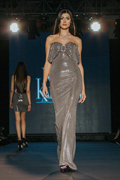 Nunu's Closet by Nur Karaata Kadın Adaline Mor Elbise NCRUNWAY24