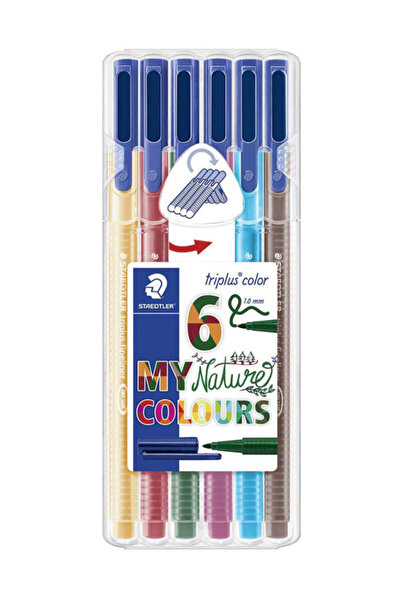 Staedtler Triplus Color Keçeli Kalem 6 Natürel Renk 323 Sb6Cs2  /