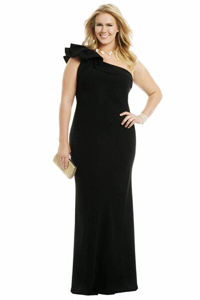 Melisita Kadın Siyah Abiye Elbise fw01754eb