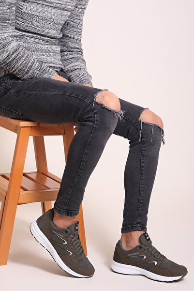 Tonny Black Haki Unisex Sneaker 772.HK0