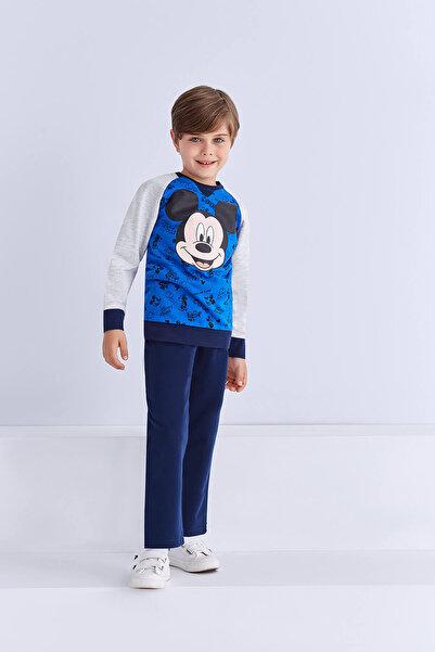 Mickey Mouse Mickey & Minnie Mouse Lisanslı Erkek Çocuk Eşofman Takımı Saks
