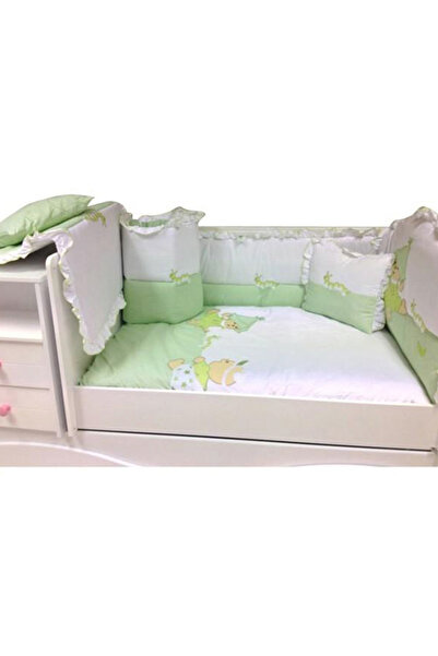 Baby Home 39001 Alt Açmalı Bebek Uyku Seti Külahlı Ayı Yeşil /