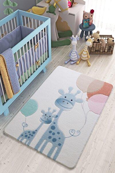Confetti Mavi Desenli Çocuk Odası Halısı