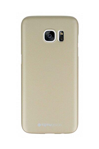 Totu Design Samsung Galaxy S7 Gold Sert Rubber Kılıf
