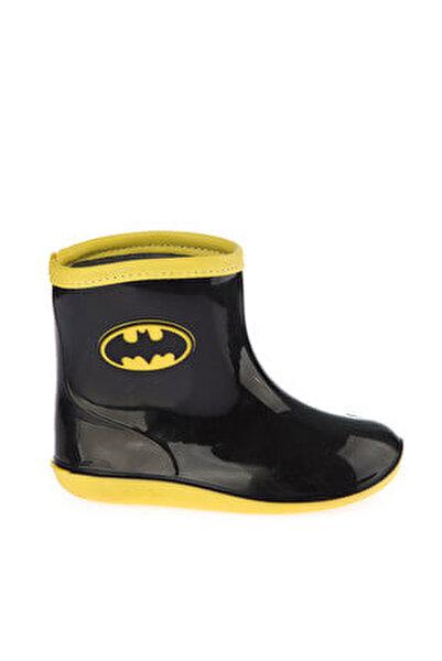 97246 Siyah Sarı Erkek Çocuk Yağmur Çizmesi 100394279