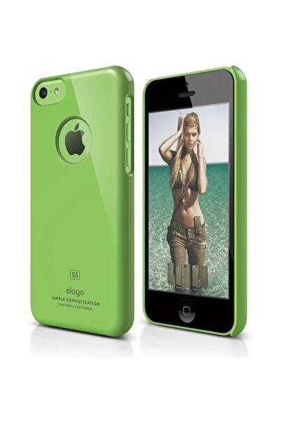 Elago iPhone 5C Slim Fit Series Yeşil Rubber Kılıf
