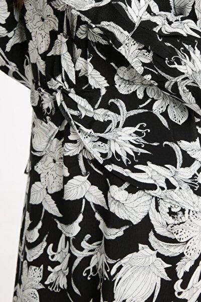 LC Waikiki Kadın Siyah Desenli Elbise 8WM279Z8