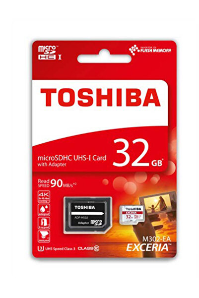 Toshiba 32GB MICRO SDHC UHS-1 U3 90MB/sn EXCERIA TOSHIBA