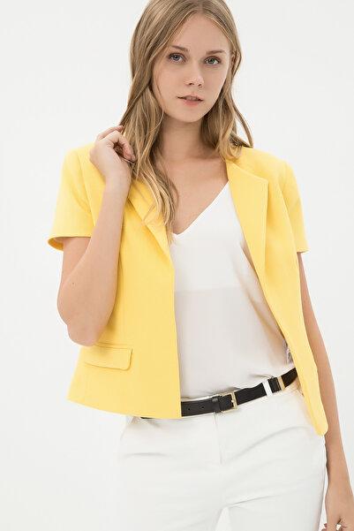 Koton Kadın Sarı Ceket 7KAK52611CW