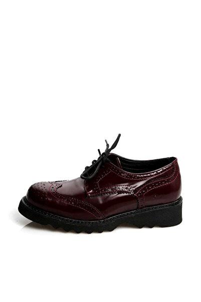 lumberjack A3322297 Koyu Kırmızı Kadın Deri Ayakkabı 100200347