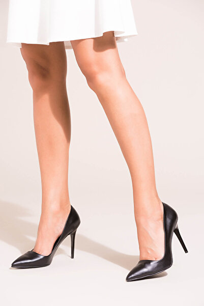 Fox Shoes Siyah Kadın Topuklu Ayakkabı 8922151909