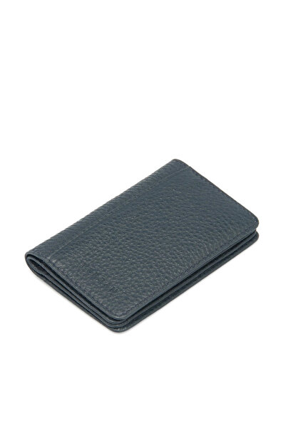 Tergan Hakiki Deri Lacivert Unisex Kredi Kartlık S1KK00001601