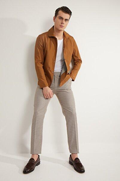Fc Plus Erkek Bordo Desenli Pantolon