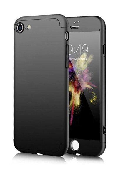 Lopard Apple iPhone 6 6S 360 Siyah Full Koruma Kılıf Arka Koruyucu Kapak
