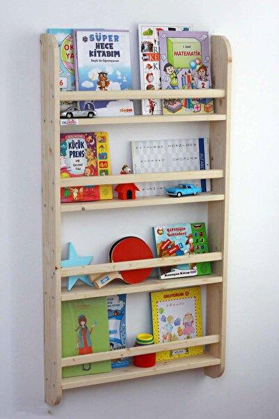 Ceebebek Ahşap Çocuk Odası Raf Anaokulu Okul Öncesi Eğitim 4 Katlı Montessori Kitaplık CEEN4KT120609