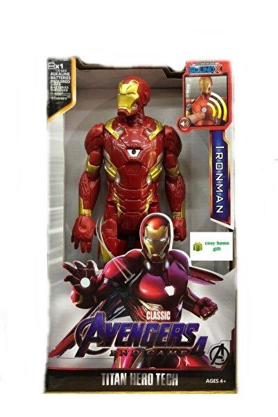 cosy home gift Avengers Ironmen Demir Adam Sesli Işıklı Yenilmezler  30 cm
