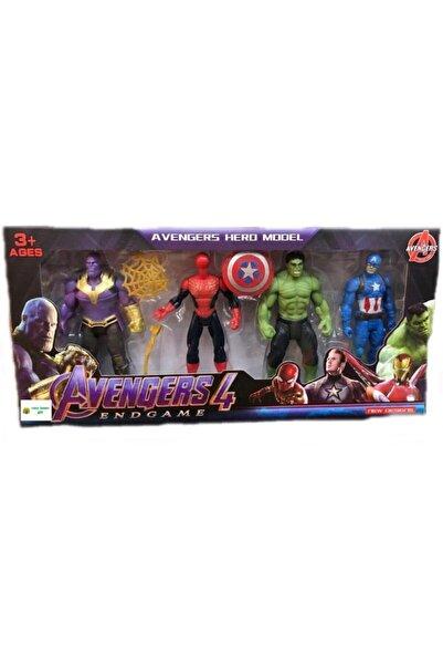 cosy home gift Avengers Yenilmezler Yeni Sezon Demir Adam Hulk Kaptan Amerika 4 lü Set