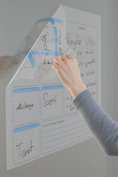 Evbuya Haftalık Planlayıcı Yapışkansız Manyetik Akıllı Kağıt & Silgili Kalem Hediyeli