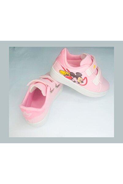 Sport Kız Çocuk Pembe Cırtlı Çizgi Film Baskılı Günlük Ayakkabı