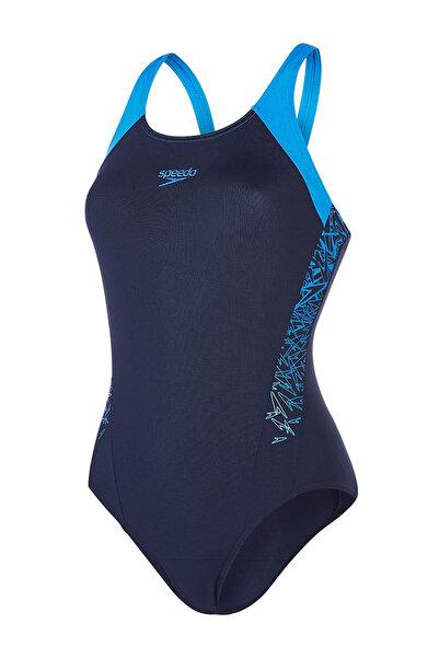 SPEEDO Kadın Lacivert Boom Endurance Plus Yüzücü Mayosu