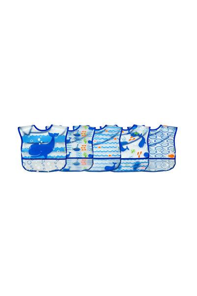 iplay Su Geçirmez Eva Kumaş Bebek Cırtlı Mama Önlüğü 5'Li Paket /