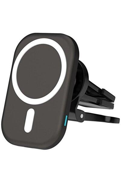 Techmaster 15w Iphone 12 Pro Max Magsafe Kablosuz Araç Manyetik Şarj Aleti