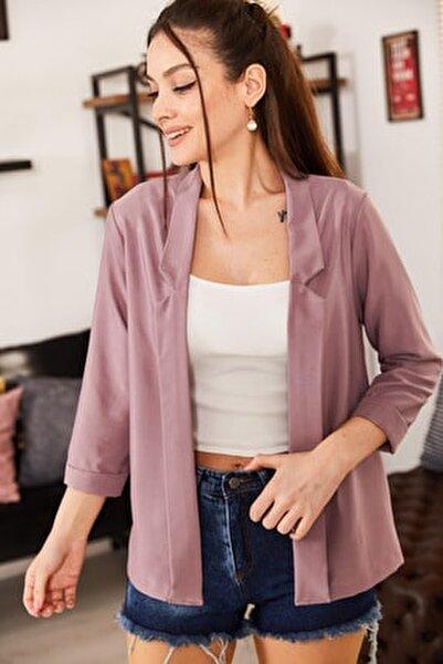 Kadın Lila Duble Kol Blazer Ceket ARM-21K001190