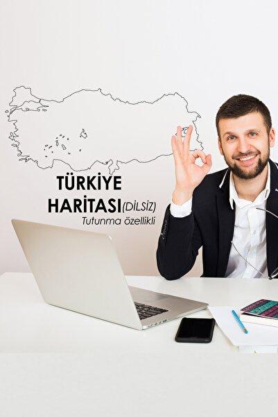 Evbuya Şehir Bölmesiz Dilsiz Türkiye Haritası Yapışkansız Tutunma Özellikli Akıllı Kağıt