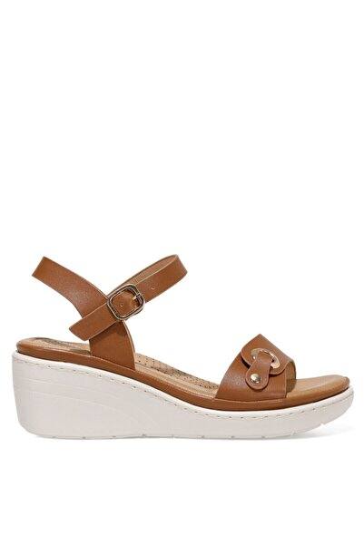 İnci DUNSTER 1FX Kahverengi Kadın Dolgu Topuklu Sandalet 101027871