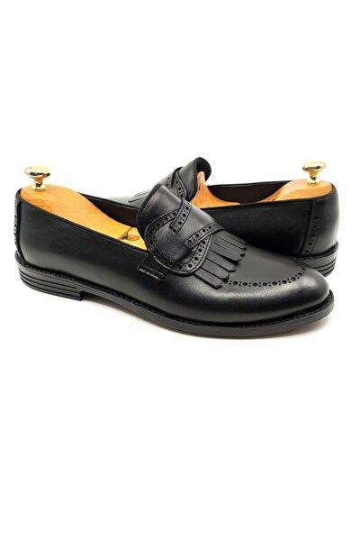 DeepSEA Siyah Erkek Püsküllü Enjeksiyon Tabanlı Deri Ayakkabı 2104498