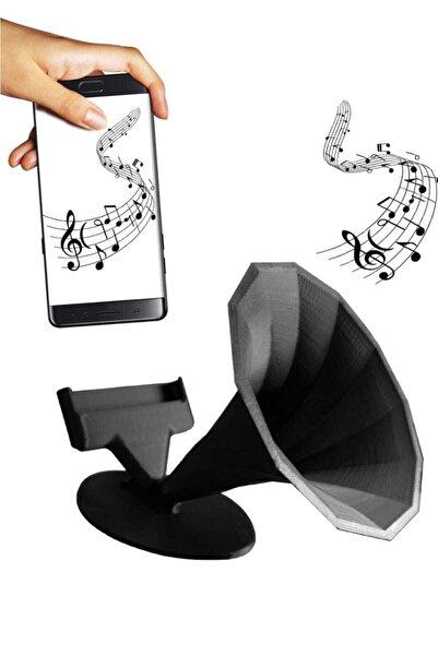 İskontoBurada Ses Bombası Akustik Telefon Tutucu Kablosuz Gramafon Hoparlör Siyah