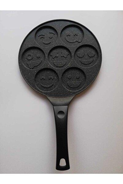 Eda Mutfak Granit Yüz Emojili Pankek Tava 28 Cm Döküm Granit Pankek Tavası