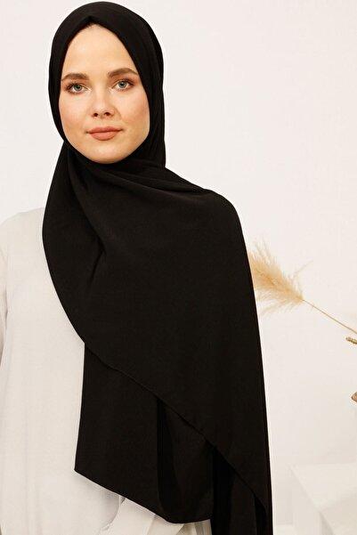 Tuva Şal Kadın Krinkıl Medine İpeği Şal Siyah 724817