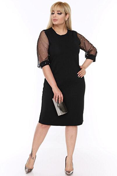 Moday Kadın Kolları İncili Elbise 6A-69340 17885