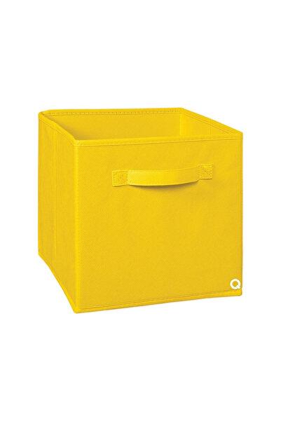 Rani Mobilya Q1 Large Çok Amaçlı Dolap İçi Düzenleyici Kutu Dekoratif Saklama Kutusu Raf Organizer Sarı