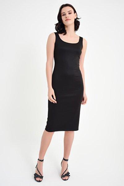 Laranor Kadın Siyah Kare Yaka Kalem Elbise 15L4246