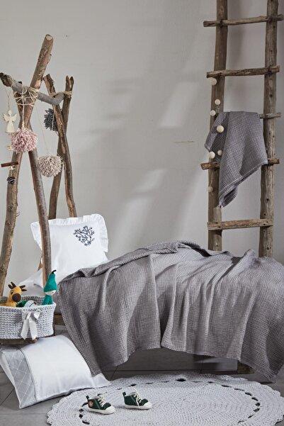 Ecocotton Kayra Dantelli Bebek Yatak Örtüsü (100X100)