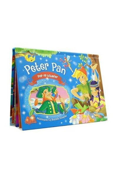 Çocuk Gezegeni Peter Pan Üç Boyutlu Kitap (Büyük Boy) - Kolektif