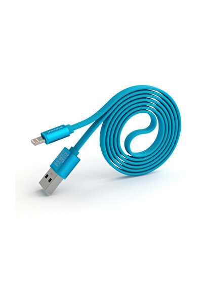 Pineng Data Şarj Kablosu Pn-302 Lightning '' Iphone, X, Xr, Xs,xs Max '' 1 Metre Yüksek Hızlı - Mavi