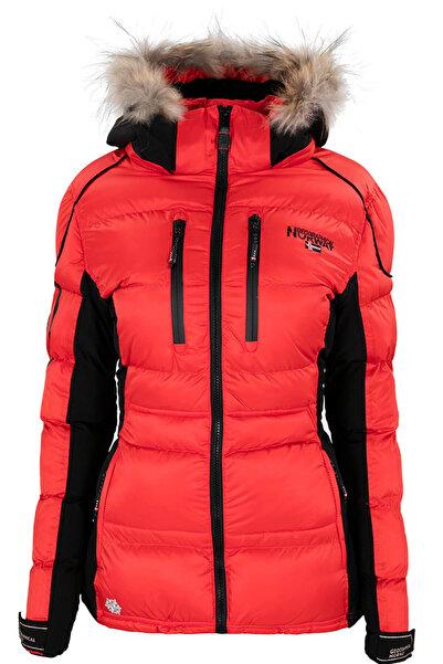 Norway Geographical Kadın Kırmızı Mont Basılıc