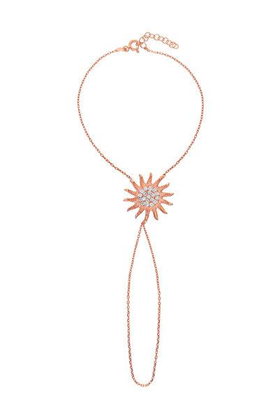 Glorria Kadın Gümüş Rose Güneş Şahmeran VK1079
