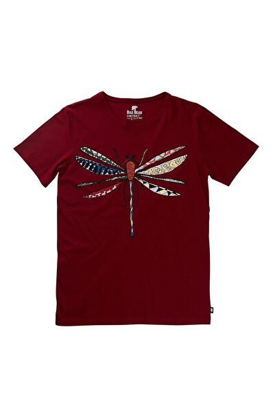 Bad Bear Bordo Erkek Tişört DRAGONFLY TEE MAROON